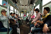 japan stock photography | People are Traveling in an Old Tram in Kumamoto, Kumamoto, Kumamoto Prefecture, Kyushu Region, Kyushu Island, Japan, Image ID JP-TRANS-0008.