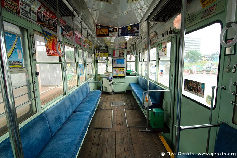 japan stock photography | Inside an Old Tram in Kumamoto, Kumamoto, Kumamoto Prefecture, Kyushu Region, Kyushu Island, Japan, Image ID JP-TRANS-0009