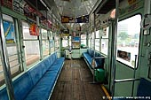 japan stock photography | Inside an Old Tram in Kumamoto, Kumamoto, Kumamoto Prefecture, Kyushu Region, Kyushu Island, Japan, Image ID JP-TRANS-0009.