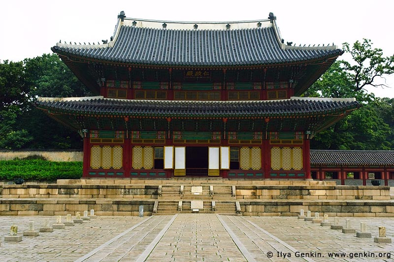 korea stock photography | Injeongjeon Hall and Path of Rank Stones at Changdeokgung Palace in Seoul, South Korea, Jongno-gu, Seoul, South Korea, Image ID KR-SEOUL-CHANGDEOKGUNG-0001