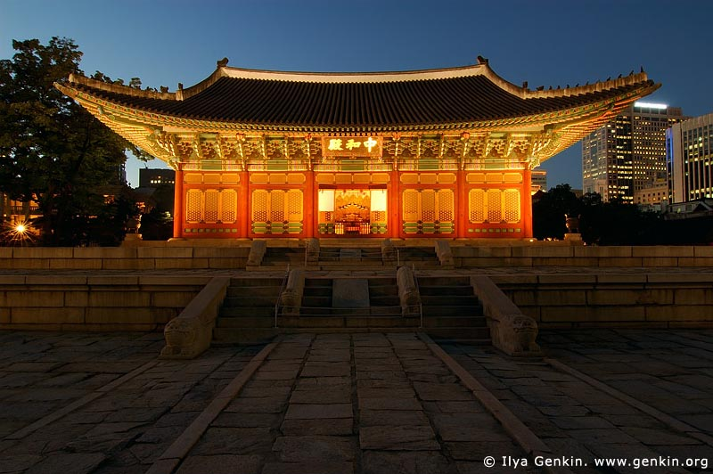 korea stock photography | Junghwajeon Hall at Night at Deoksugung Palace in Seoul, South Korea, Seoul, South Korea, Image ID KR-SEOUL-DEOKSUGUNG-0001