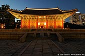 korea stock photography | Junghwajeon Hall at Night at Deoksugung Palace in Seoul, South Korea, Seoul, South Korea, Image ID KR-SEOUL-DEOKSUGUNG-0001.