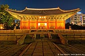 korea stock photography | Junghwajeon Hall at Night at Deoksugung Palace in Seoul, South Korea, Seoul, South Korea, Image ID KR-SEOUL-DEOKSUGUNG-0002.