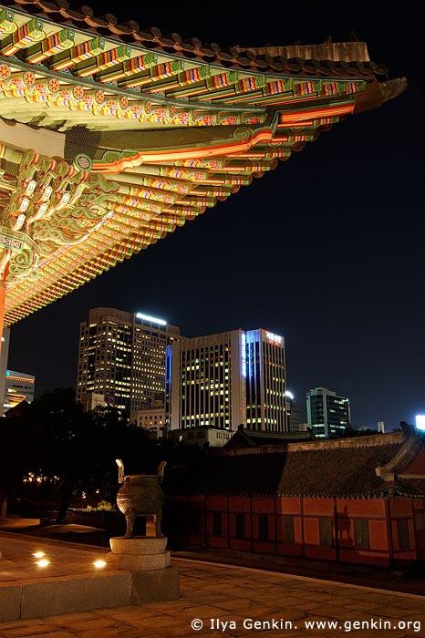 korea stock photography | Junghwajeon Hall at Night at Deoksugung Palace in Seoul, South Korea, Seoul, South Korea, Image ID KR-SEOUL-DEOKSUGUNG-0003