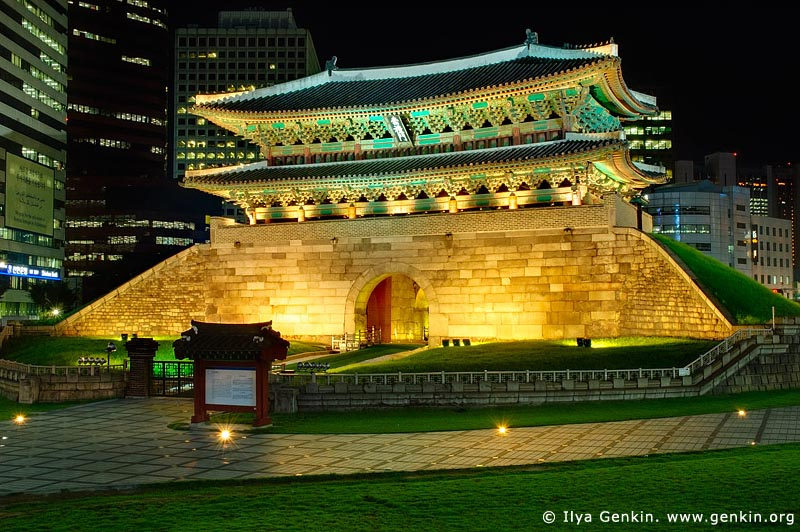 korea stock photography | Namdaemun Gate Before 2008 Fire in Seoul, South Korea, Namdaemun (Sungnyemun), Seoul, South Korea, Image ID KR-SEOUL-0001