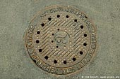 korea stock photography | Manhole Cover in Seoul, South Korea, Seoul, South Korea, Image ID KR-SEOUL-0019.