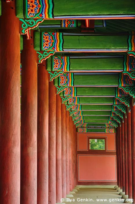 korea stock photography | West Corridor of Geunjeongjeon at Gyeongbokgung Palace in Seoul, South Korea, Seoul, South Korea, Image ID KR-SEOUL-GYEONGBOKGUNG-0008