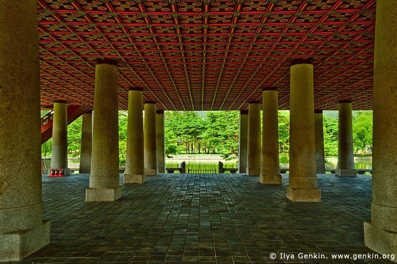 korea stock photography   Gyeonghoeru Pavilion at Gyeongbokgung Palace in Seoul, South Korea, Seoul, South Korea, Image ID KR-SEOUL-GYEONGBOKGUNG-0009