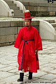 korea stock photography | Man in a Traditional Costume at Gyeonghuigung Palace in Seoul, South Korea, Seoul, South Korea, Image ID KR-SEOUL-GYEONGHUIGUNG-0002.