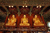 korea stock photography | Three Golden Buddha Statues Inside Jogyesa Temple in Seoul, South Korea, Gyeonji-dong, Jongno-gu, Seoul, South Korea, Image ID KR-SEOUL-JOGYESA-0007.