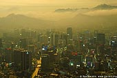 korea stock photography | Seoul city at Dusk, The view from N Seoul Tower in Seoul, South Korea provides a breathtaking 360 degree view of the city., Image ID KR-SEOUL-NAMSAN-0001.