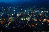 korea stock photography | Seoul city at Night, The view from N Seoul Tower in Seoul, South Korea provides a breathtaking 360 degree view of the city., Image ID KR-SEOUL-NAMSAN-0005.