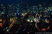 korea stock photography | Seoul city at Night, The view from N Seoul Tower in Seoul, South Korea provides a breathtaking 360 degree view of the city., Image ID KR-SEOUL-NAMSAN-0006.
