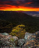 landscapes stock photography | Hartley Vale From Hassans Walls at Sunrise, Lithgow, Blue Mountains, New South Wales (NSW), Australia, Image ID AU-HASSANS-WALLS-0003. Beautiful photograph of a vivid sunrise over the western slopes of Blue Mountains and Hassans Walls near Lithgow.