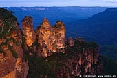 landscapes stock photography | The Three Sisters, Echo Point, Katoomba, Blue Mountains, NSW, Australia, Image ID THREE-SISTERS-BLUE-MOUNTAINS-0002.