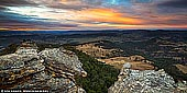 landscapes stock photography | Hassans Walls at Sunrise, Lithgow, Blue Mountains, New South Wales (NSW), Australia