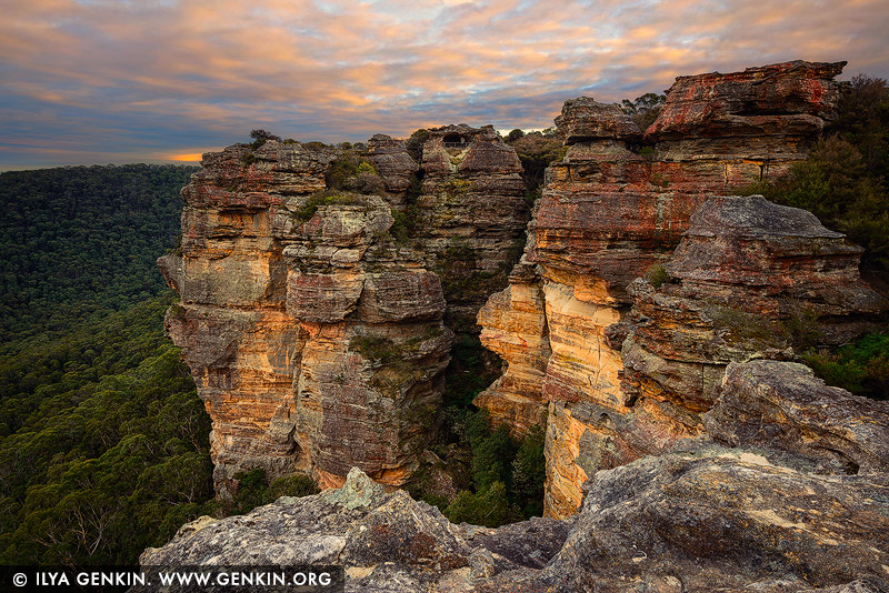 landscapes stock photography | Early Morning at Hassans Walls, Lithgow, Blue Mountains, New South Wales (NSW), Australia, Image ID AU-HASSANS-WALLS-0002