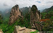 landscapes stock photography | View from Beginning to Believe Lookout, Beihai (North Sea) Scenic Area, Huangshan (Yellow Mountains), China, Image ID CHINA-HUANGSHAN-0027. Panoramic view of the Shixin Peak and the gorge from Beginning to Believe Lookout in Beihai Scenic Area (North Sea) in Huangshan Mountains (Yellow Mountains) in Anhui Province of China.