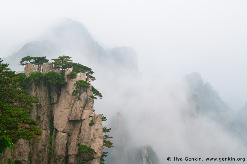 landscapes stock photography | View from Beginning to Believe Lookout, Beihai (North Sea) Scenic Area, Huangshan (Yellow Mountains), China, Image ID CHINA-HUANGSHAN-0010