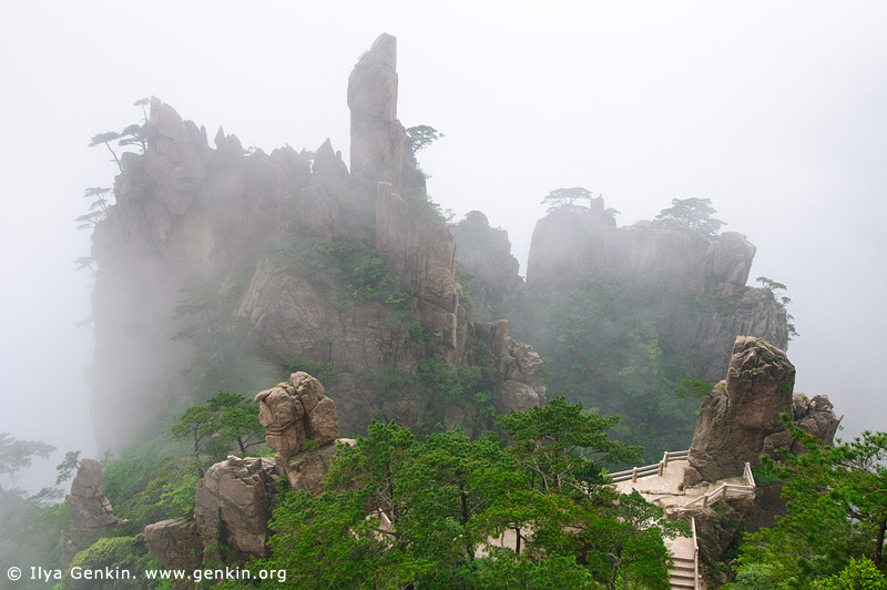 landscapes stock photography | Xihai (West Sea) Canyon Scenery, Huangshan (Yellow Mountains), Anhui Province, China, Image ID CHINA-HUANGSHAN-0011