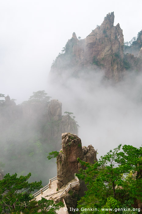landscapes stock photography | Low Clouds in Xihai (West Sea) Grand Canyon, Huangshan (Yellow Mountains), Anhui Province, China