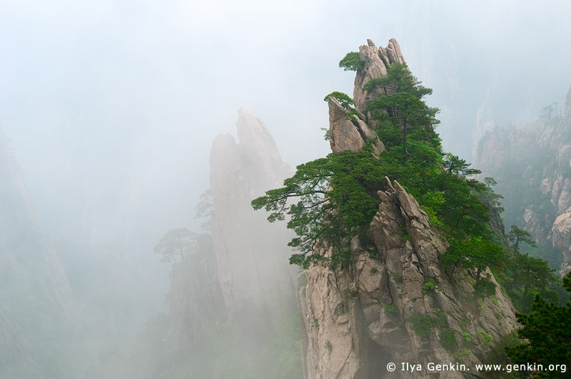 landscapes stock photography | Clouds in Xihai (West Sea) Grand Canyon, Double Scissors Peak, Baiyun Scenic Area, Huangshan (Yellow Mountains), China, Image ID CHINA-HUANGSHAN-0015