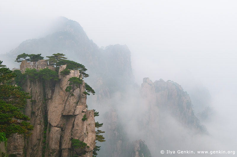 landscapes stock photography | Clouds over Beihai (North Sea) Scenic Area, Beginning to Believe Lookout, Huangshan (Yellow Mountains), China, Image ID CHINA-HUANGSHAN-0017