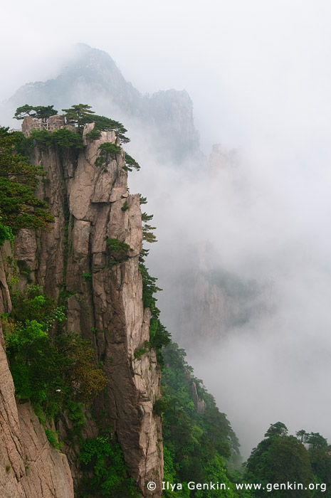 landscapes stock photography | Looking Down from Beginning to Believe Lookout, Beihai (North Sea) Scenic Area, Huangshan (Yellow Mountains), China, Image ID CHINA-HUANGSHAN-0018