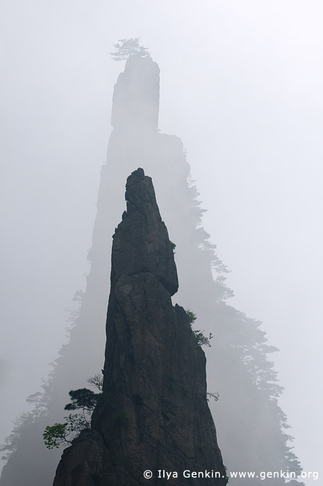 landscapes stock photography | Sharp Peaks of Huangshan Mountains in Mist , Xihai (West Sea) Grand Canyon, Baiyun Scenic Area, Huangshan (Yellow Mountains), China, Image ID CHINA-HUANGSHAN-0022
