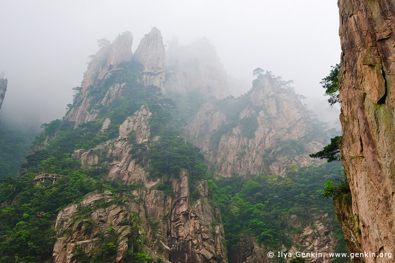 landscapes stock photography | Looking Up from the Bottom of the Xihai (West Sea) Grand Canyon, Baiyun Scenic Area, Huangshan (Yellow Mountains), China, Image ID CHINA-HUANGSHAN-0023