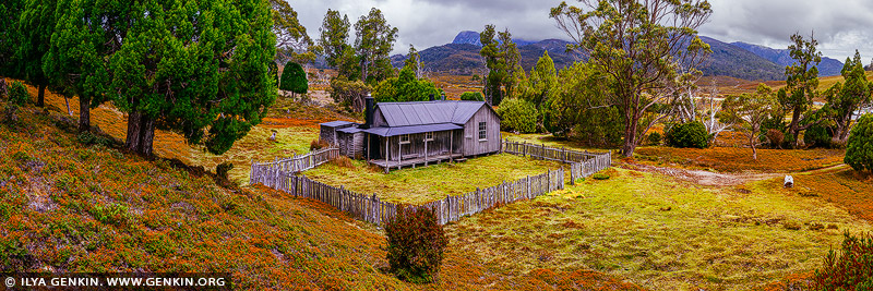 landscapes stock photography | Mount Kate Hut, Cradle Mountain National Park, Tasmania, Australia, Image ID CRADLE-MOUNTAIN-TAS-0002