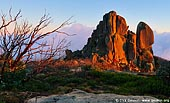 landscapes stock photography | The Cathedral at Sunrise, Mount Buffalo National Park, Australian Alps, Victoria, Australia, Image ID MOUNT-BUFFALO-VIC-0001. First warm rays of the sun highlighted the Cathedral in Mount Buffalo National Park, Hight Country, Victoria, Australia. Mount Buffalo is a truly spectacular national park in Victoria's high country and offers outdoor enthusiasts numerous activities including cross country and downhill skiing, rock climbing, abseiling, buskwalking and landscape and wildlife photography.