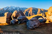 landscapes stock photography | Early Morning at Castle Hill, Canterbury Region, South Island, New Zealand, Image ID NZ-CASTLE-HILL-0006. Limestone boulders on Castle Hill at sunrise overlooking the Canterbury Plains and Castle Hill Peak. Castle Hill, Canterbury, New Zealand.