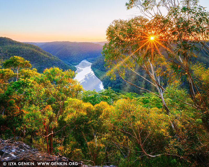 landscapes stock photography | Sunset at Barnetts Lookout, Berowra Valley National Park, Hornsby Shire, NSW, Australia, Image ID AU-BEROWRA-BARNETTS-LOOKOUT-0002