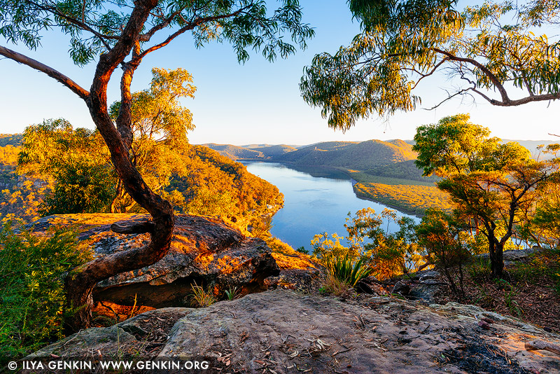 landscapes stock photography | Marlow and Hawkesbury River at Sunset, Popran National Park, Central Coast, NSW, Australia, Image ID AU-HAWKESBURY-MARLOW-0001