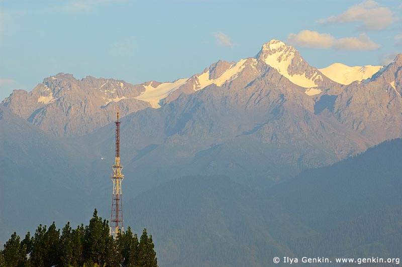 Northern Tien-Shan at Sunset, View from Almaty City, Almaty, Kazakhstan