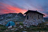 landscapes stock photography | Seaman's Hut at Sunset, Kosciusko National Park, Snowy Mountains, NSW, Australia, Image ID AU-KOSCIUSKO-0002.