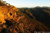 landscapes stock photography | Sunset at the Balconies, Reed Lookout, Formerly known as the 'Jaws of Death', Grampians National Park (Gariwerd), Victoria, Australia, Image ID GRAMP-0005.