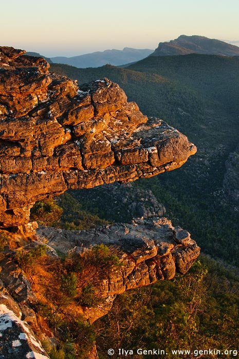 landscapes stock photography | Sunset at the Balconies, Reed Lookout, Formerly known as the 'Jaws of Death', Grampians National Park (Gariwerd), Victoria, Australia, Image ID GRAMP-0007