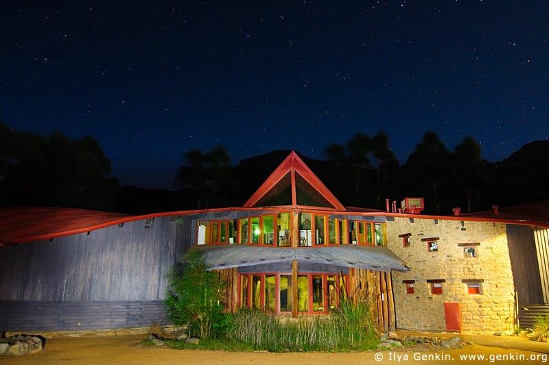 landscapes stock photography | Brambuk - The National Park and Cultural Centre at Night, Halls Gap, Grampians National Park (Gariwerd), Victoria, Australia, Image ID GRAMP-0008