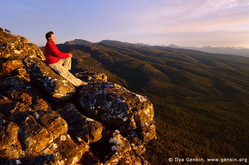landscapes stock photography | Watching Beautiful Sunset from the Reed Lookout, The Grampians National Park (Gariwerd), Victoria, Australia, Image ID GRAMPIANS-0012