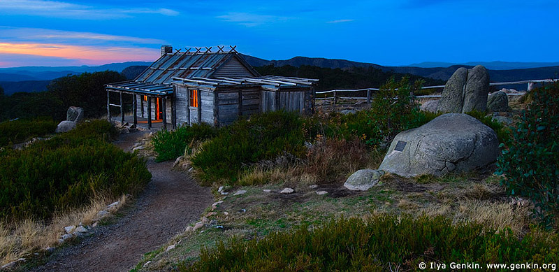 landscapes stock photography | Craig's Hut at Night, Alpine National Park, Mansfield, Victoria, Australia, Image ID AU-MANSFIELD-CRAIGS-HUT-0002