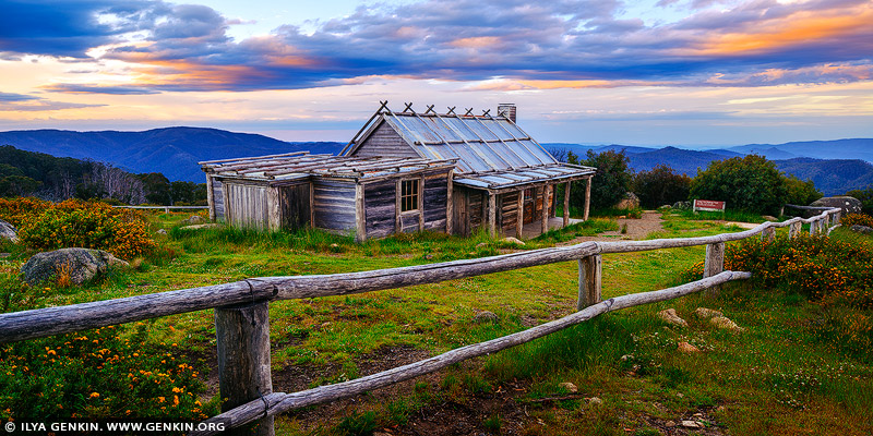 landscapes stock photography | Craig's Hut at Twilight, Alpine National Park, Mansfield, Victoria, Australia, Image ID AU-MANSFIELD-CRAIGS-HUT-0004