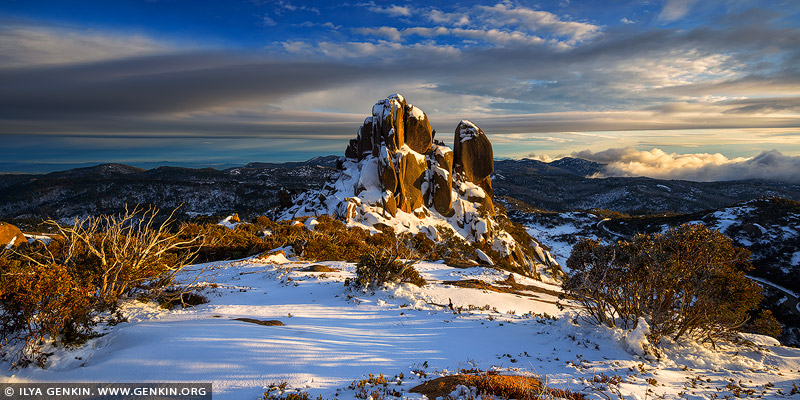 landscapes stock photography | The Cathedral at Sunrise, Mount Buffalo National Park, Australian Alps, VIC, Australia