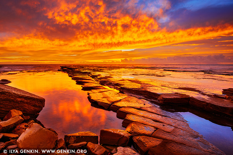 landscapes stock photography | Dramatic Sunrise at Terrigal, Central Coast, NSW, Australia, Image ID AU-TERRIGAL-0001