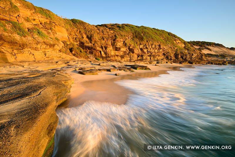 landscapes stock photography | Golden Sunrise at Norah Head, Central Coast, Soldiers Point, NSW, Australia, Image ID NORAH-HEAD-0005
