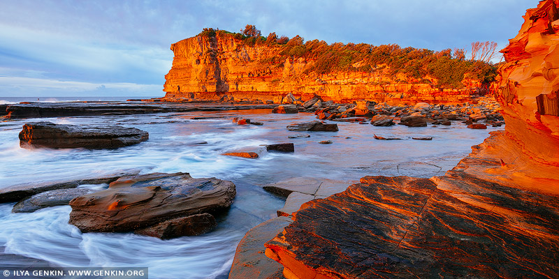landscapes stock photography | The Skillion at Sunrise, Terrigal, Central Coast, NSW, Australia, Image ID SKILLION-TERRIGAL-0001