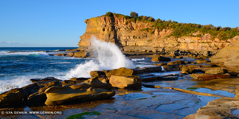 landscapes stock photography | Waves Crashing at The Skillion, Terrigal, Central Coast, NSW, Australia, Image ID SKILLION-TERRIGAL-0007