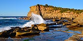 landscapes stock photography | Waves Crashing at The Skillion, Terrigal, Central Coast, NSW, Australia, Image ID SKILLION-TERRIGAL-0007. Lying on the south of Terrigal beach on the Central Coast, NSW, Australia is an oddly-shaped narrow rocky cape that's famously called The Skillion. The Skillion is distinct due to its unique proportions that rise sharply eastwards to a significant height over a short distance. It's a popular site for photographers with a lookout at its peak that provides visitors with breathtaking views of the surrounding coast.