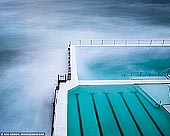 landscapes stock photography | Bondi Beach Icebergs, Sydney, NSW, Australia, Image ID AU-BONDI-BEACH-0005. Beautiful minimalistic and contemporary landscape photography of the Bondi Icebergs swimming pool on a cloudy morning on the Eastern Bondi Beach in Sydney, NSW, Australia.